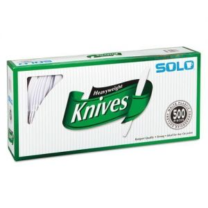 Solo Heavyweight Plastic Knife White - 500 Pack