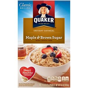 QUAKER INSTANT OATMEAL LOW SUGAR MAPLE & BROWN SUGAR 10 CT