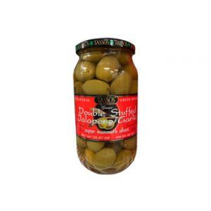 Tassos Jalapeno & Garlic Olives 35.3 OZ
