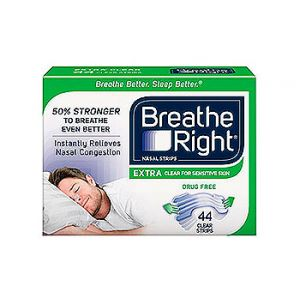 Breathe Right. Nasal strips. Extra clear 44 CT