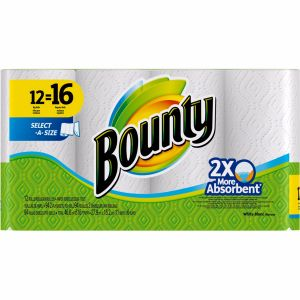 Bounty White Mega Rolls - 12 Pack