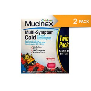 Children´s Mucinex Multi-Symptom Cold. 6.8 OZ / 2 PK