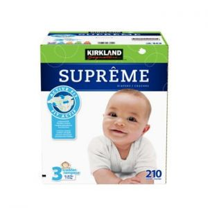 Kirkland Signature Supreme Diapers Size 3; Quantity 210