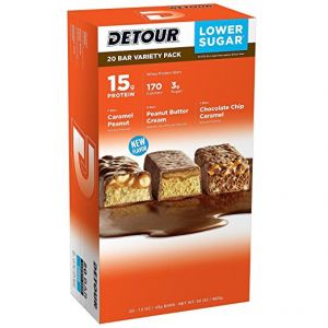 Detour Protein Bar Peanut Lover Variety - 18 Pack