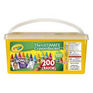 Crayola Crayon Bucket 200 ct