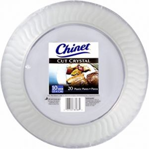 Chinet Cut Crystal 10 Plates 20 ct