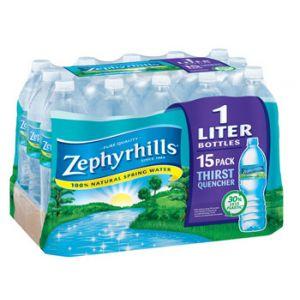 Zephyrhills Water 1 Liter - 15 Pack