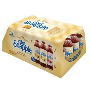 Snapple Diet Variety Tea 20 oz - 24 Pack