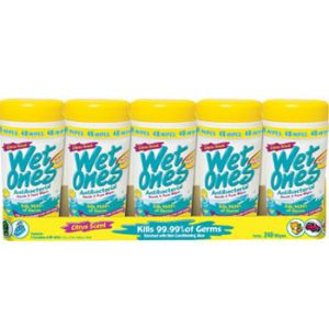 5 Pack - Wet Ones Antibacterial Wipe 48 ct