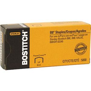 Stanley Bostitch B8 PowerCrown Premium Staples, 1/4 - 5,000 Staples
