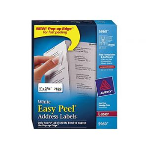 Avery 5960 White Laser Address Labels with Easy Peel
