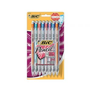 BIC Mechanical Pencils with Assorted Colorful Barrels, .9mm - 24 Pack