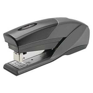 Swingline EZ Touch Reduced Effort Half Strip Stapler, 20 Sheet Capacity, Black