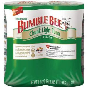 Bumble Bee Chunk Light Tuna In Water 5oz - 10 Pack