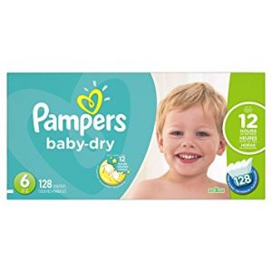 Pampers Baby Dry Diapers Jumbo Pack - Size 6 - 128 Pack