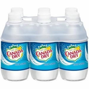 Canada Dry Club Soda 10oz Glass Bottle - 24 Pack
