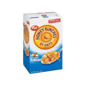 Post Cereal Honey Bunches Of Oats Almond Value Pack - 48 oz.