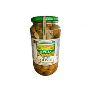 Agro Sevilla Garlic Stuffed Olives 21 OZ