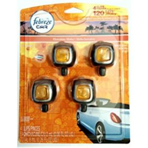 Febreze Car Air Freshner 4PK. Vent Clip