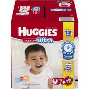 Huggies Snug & Dry Diapers Size 6 - 132 Pack