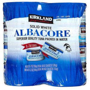 Kirkland Signature Solid White Albacore Tuna in water 7oz-8pack