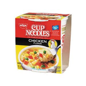 NISSIN CUP NOODLE,CHICKEN.4/3-PK/2.25OZ.