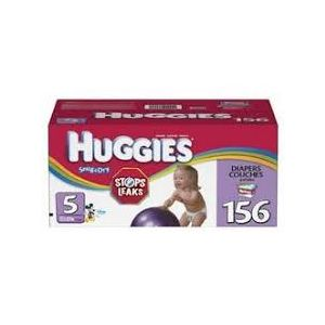 Huggies Snug & Dry Diapers Size 5 - 156 Pack