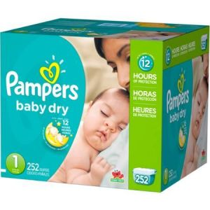 Pampers Baby Dry Diapers Jumbo Pack - Size 1 - 252 Pack