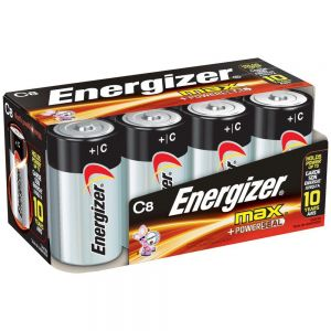 Energizer Max C Batteries 8 Pack