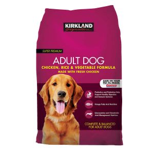 Kirkland Signature Chicken + Rice & Vegetables Adult Dog Food 40 LBS.
