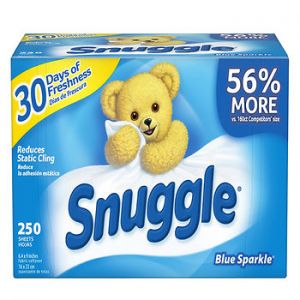 Snuggle Blue Sparkle Fabric Sheets - 250 Sheets