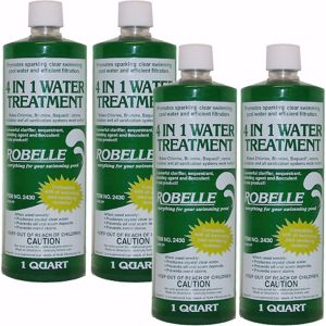 Robelle 4-in-1 Water Treatment, 4 pk./1 qt.