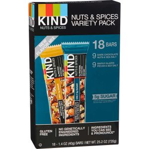 Kind Bars Nuts and Spices Variety Pack - 18 Count