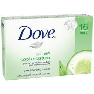 Dove Cool Moisture Bar Soap 4 oz - 16 Pack