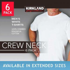 Kirkland Signature Men's Crew Neck Tee 6-pack White