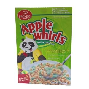 PROMOS APPLE WHIRLS CEREAL. 12/8OZ.