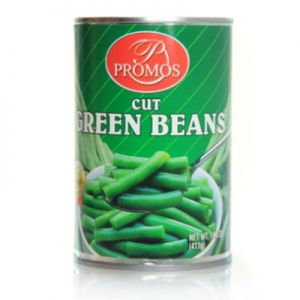 PROMOS, CUT GREEN BEANS. 24/15.25oz.