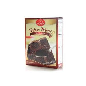 PROMOS DELUXE MOIST DEVILS FOOD CAKE MIX 12/18.25OZ