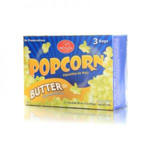 PROMOS, M / WAVE POP CORN-BUTTER FLAVOR. 12/3-pk/ 3.5OZ.