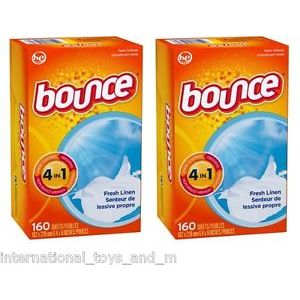 Bounce Fabric Sheets Outdoor Fresh Scent 160 ct X 2