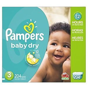 Pampers Baby Dry Diapers Jumbo Pack - Size 3 - 204 Pack