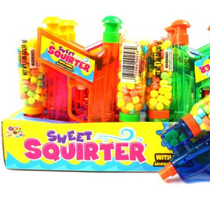 ALBERTS SWEET SQUIRT GUN FILLED W/CANDY. 4/12-CT
