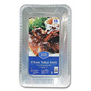 Berkley & Jensen Full-Size Steam Table Pans - 15 Pack