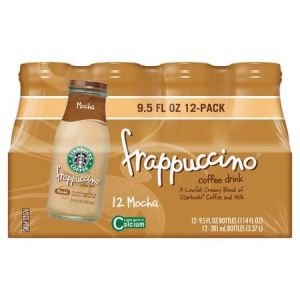 Starbucks Frappuccino Mocha Coffee Drink 9.5 Oz - 12 Pack